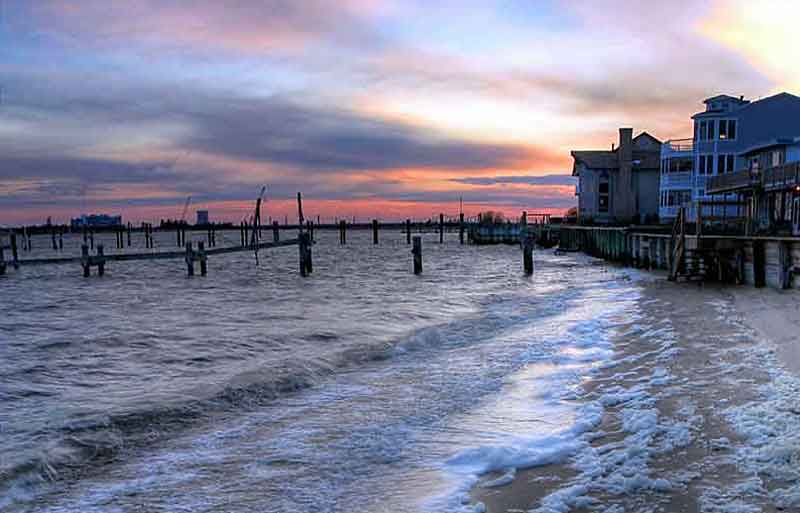 Housing on the bay in Somers Point, NJ >