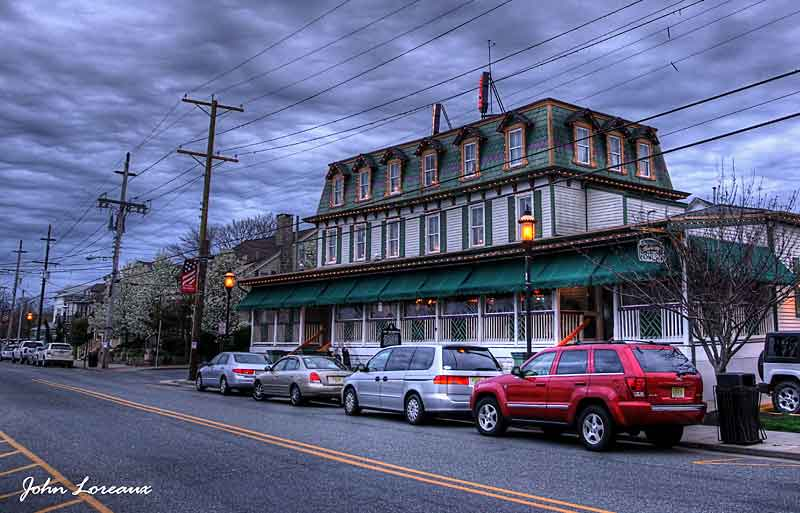 The Historic Anchorage Tavern, the oldest continuously operated business establishment in Somers Point. >